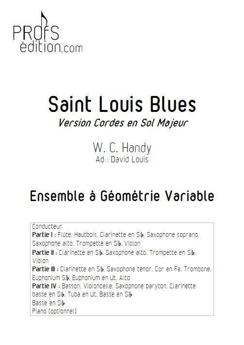 Saint Louis Blues - Ensemble Variable - HANDY W. C. - page de garde