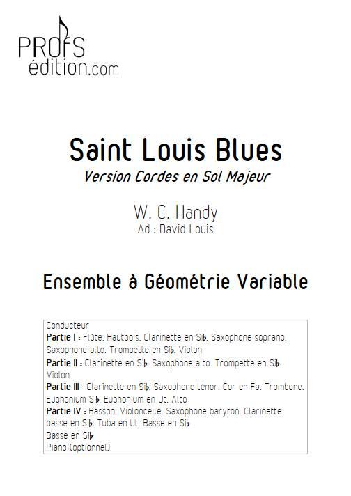 Saint Louis Blues - Ensemble Variable - HANDY W. C. - page de garde