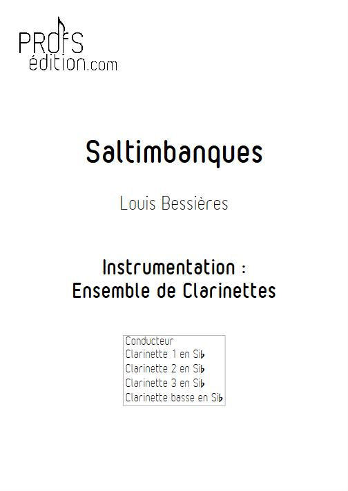 Saltimbanques - Ensemble de Clarinettes - BESSIERES L. - page de garde