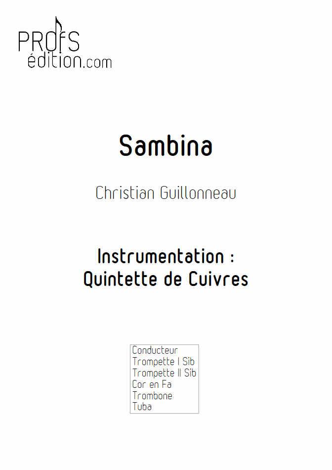 Sambina - Quintette de Cuivres - GUILLONNEAU C. - page de garde