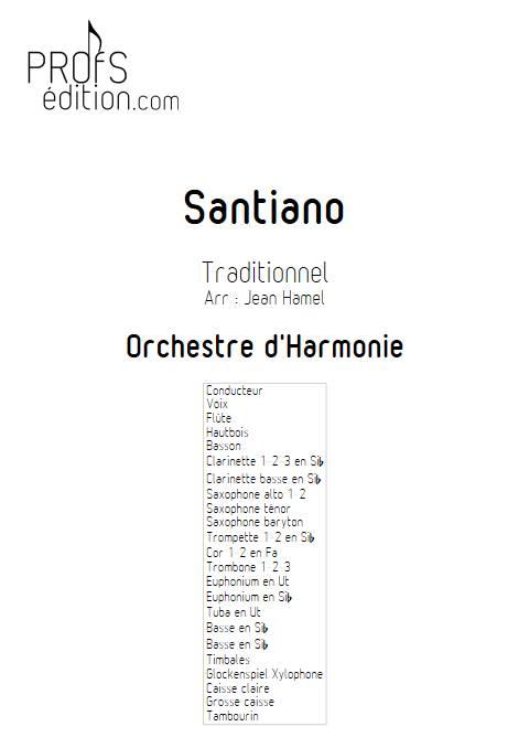 Santiano - Orchestre d'Harmonie - TRADITIONNEL - page de garde