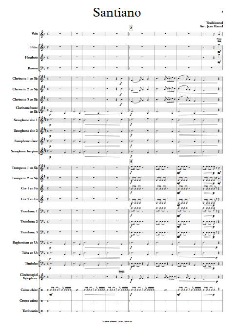 Santiano - Orchestre d'Harmonie - TRADITIONNEL - app.scorescoreTitle