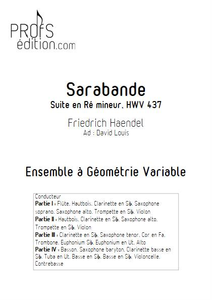 Sarabande - Ensemble Variable - HANDEL G. F. - page de garde