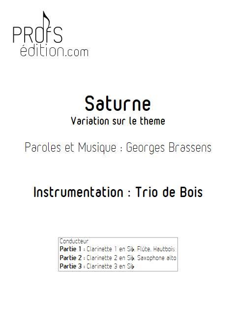 Saturne - Trio de Clarinettes - BRASSENS G. - page de garde