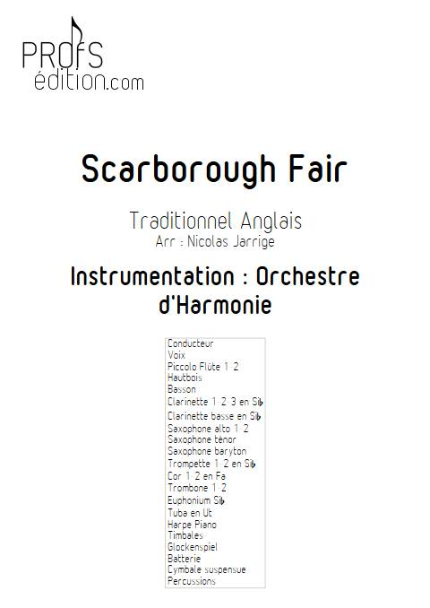 Scarborough Fair - Orchestre d'Harmonie - TRADITIONNEL ANGLAIS - page de garde