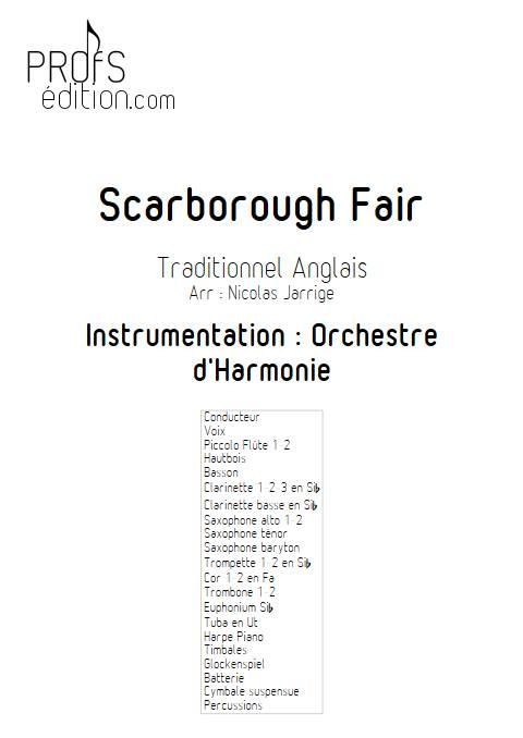 Scarborough Fair - Orchestre d'Harmonie - TRADITIONNEL ANGLAIS - page de garde