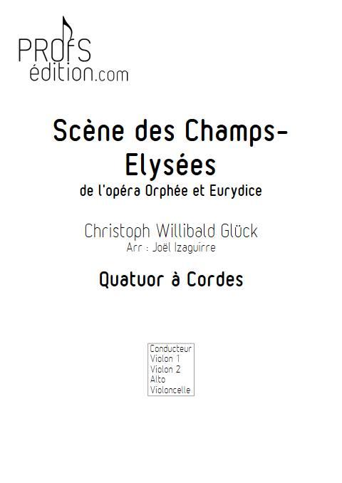 Scene des champs elysées - Quatuor à cordes - GLUCK W. - page de garde