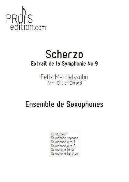 Scherzo - Ensemble de Saxophones - MENDELSSOHN F. - page de garde