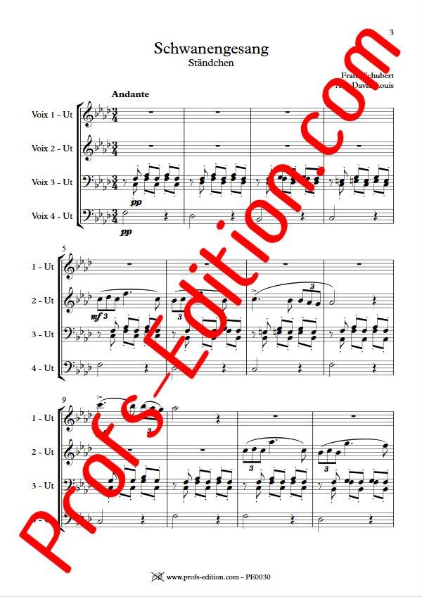 Ständchen - Ensemble Géométrie Variable - SCHUBERT F. - app.scorescoreTitle
