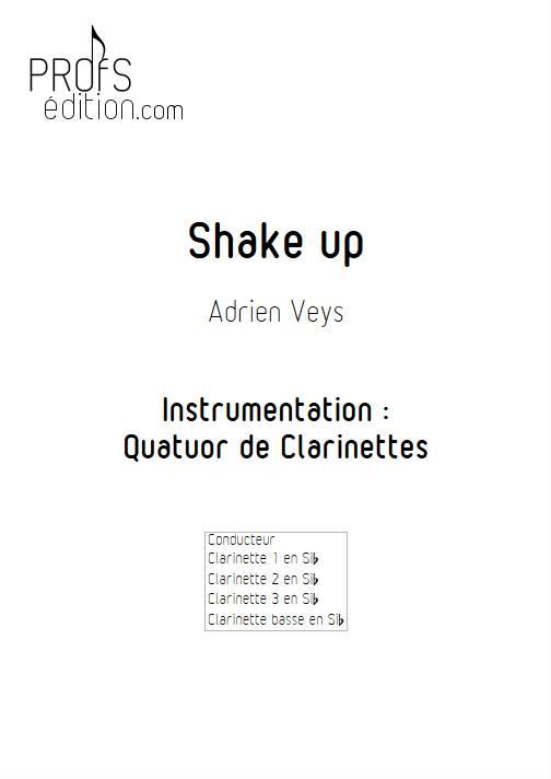 Shake Up - Quatuor de Clarinettes - VEYS A. - page de garde