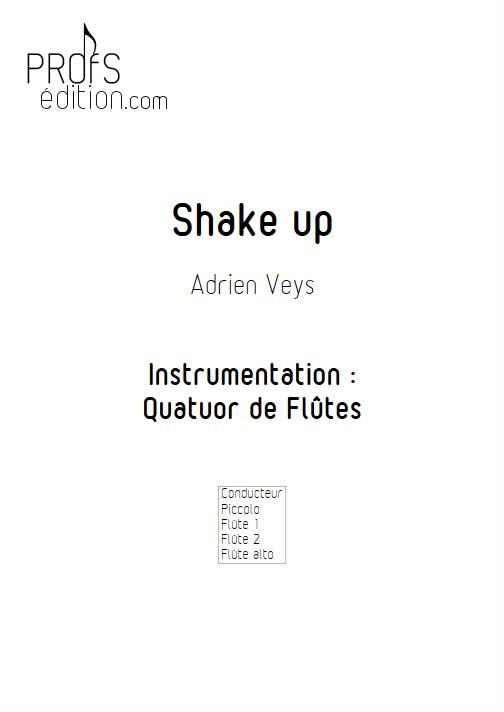 Shake Up - Quatuor de Flûtes - VEYS A. - page de garde