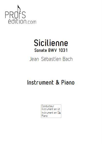 Sicilienne - Intrument & Piano - BACH J.S. - page de garde