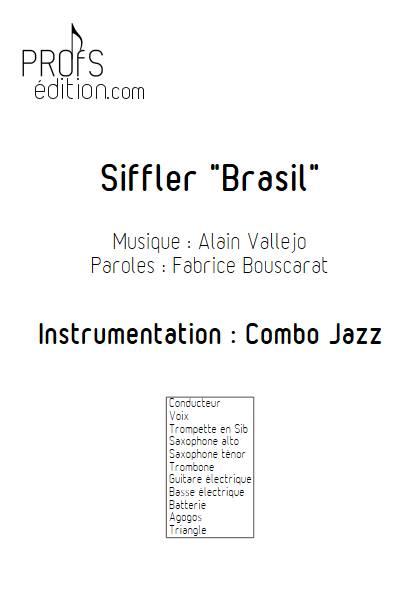 Siffler Brasil - Combo Jazz - VALLEJO A. - page de garde