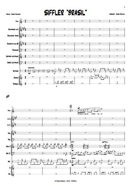 Siffler Brasil - Combo Jazz - VALLEJO A. - Partition