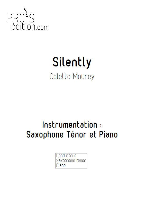 Silently - Duo Saxophone & Piano - MOUREY C. - page de garde