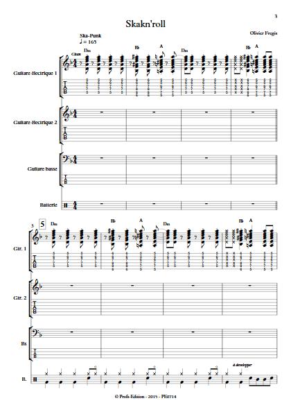 SkaknRoll - Ensemble de Musiques Actuelles - FREGIS O. - app.scorescoreTitle