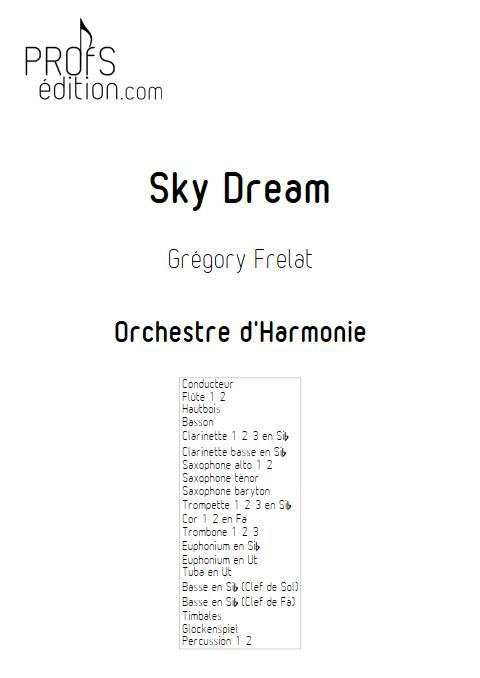 Sky Dream - Orchestre d'Harmonie - FRELAT G. - page de garde