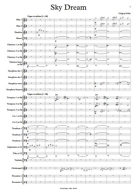 Sky Dream - Orchestre d'Harmonie - FRELAT G. - app.scorescoreTitle