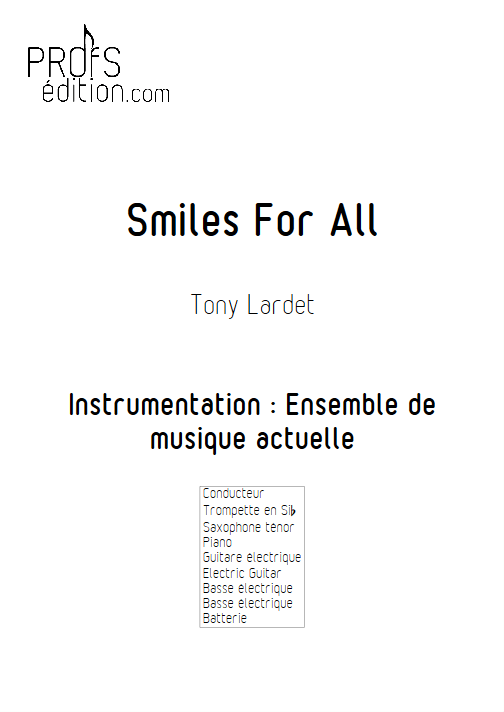 Smiles for All - Musique Actuelle - LARDET T. - page de garde