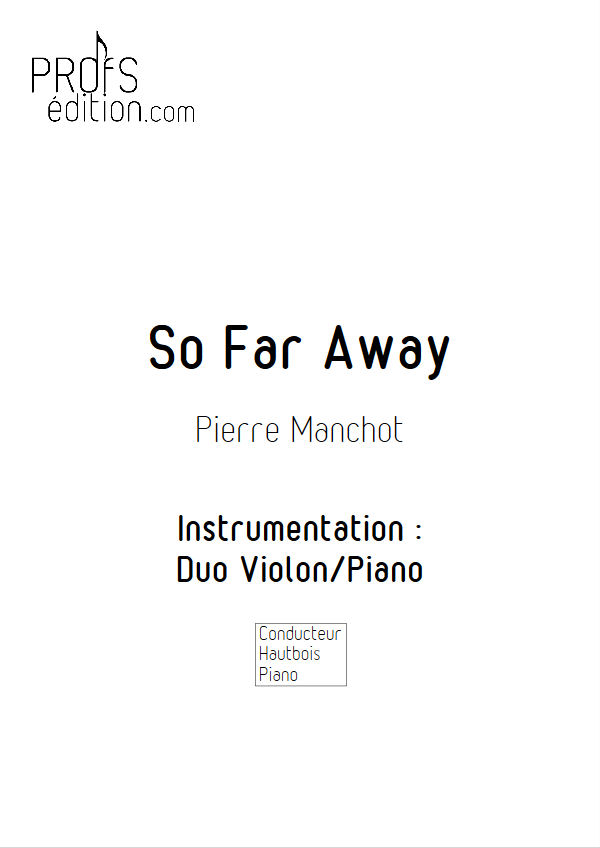 So Far Away - Duo Violon & Piano - MANCHOT P. - page de garde