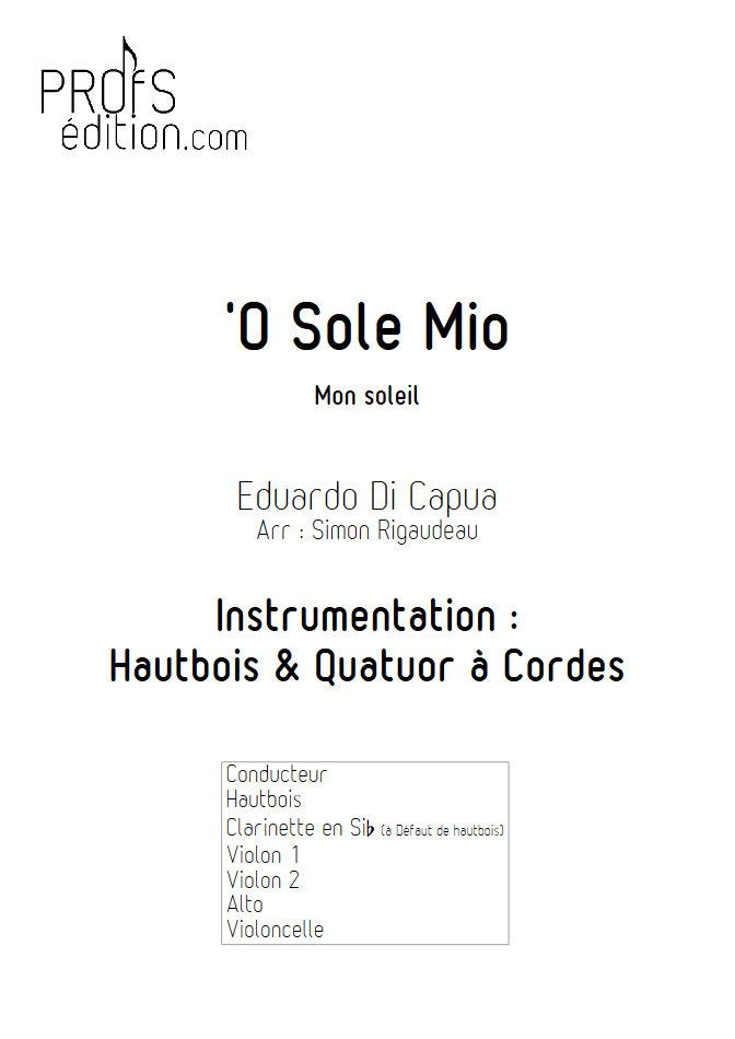 O Sole Mio - Hautbois et Quatuor à Cordes - Di CAPUA E. - page de garde