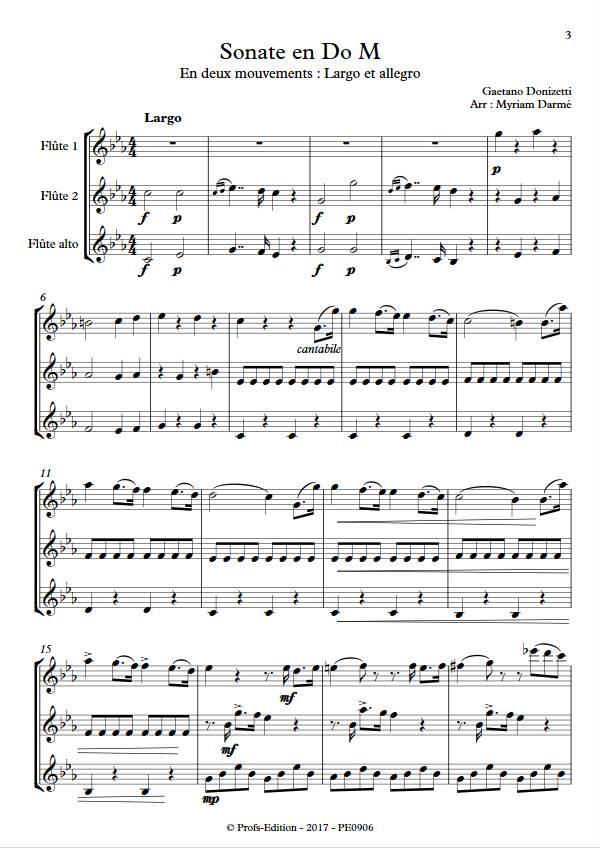 Sonate en Do Majeur - Trio de flûtes - DONIZETTI G. - app.scorescoreTitle