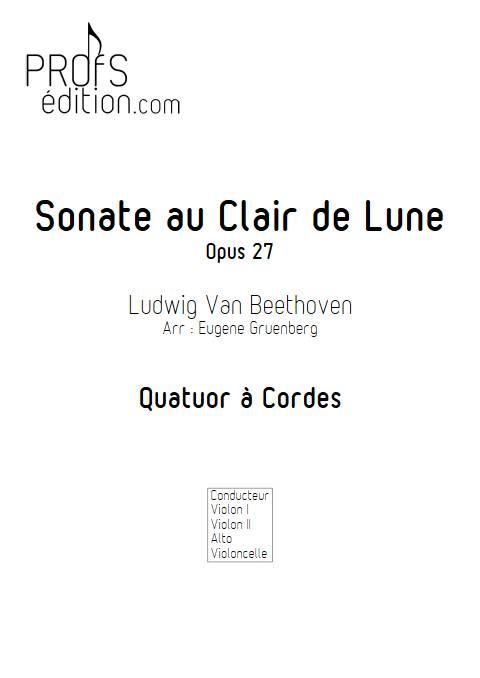 Sonate au Clair de Lune - Quatuor à Cordes - BEETHOVEN L. V. - page de garde