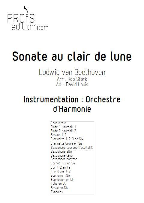 Sonate au clair de lune - Orchestre d'Harmonie - BEETHOVEN L. V. - page de garde