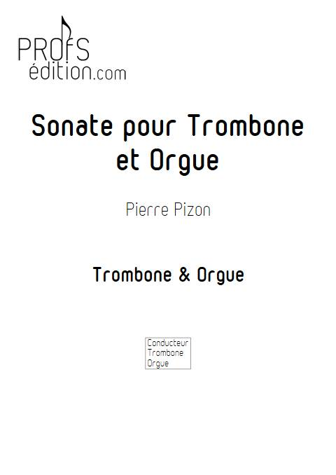 Sonate pour Trombone - Trombone & Orgue - PIZON P. - page de garde