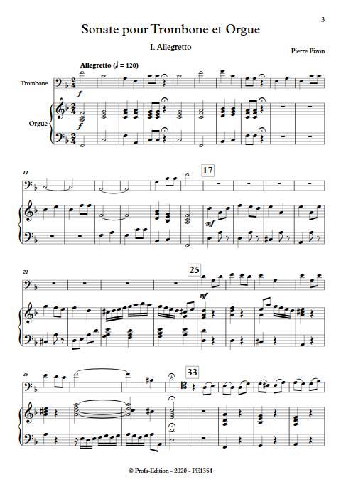 Sonate pour Trombone - Trombone & Orgue - PIZON P. - app.scorescoreTitle