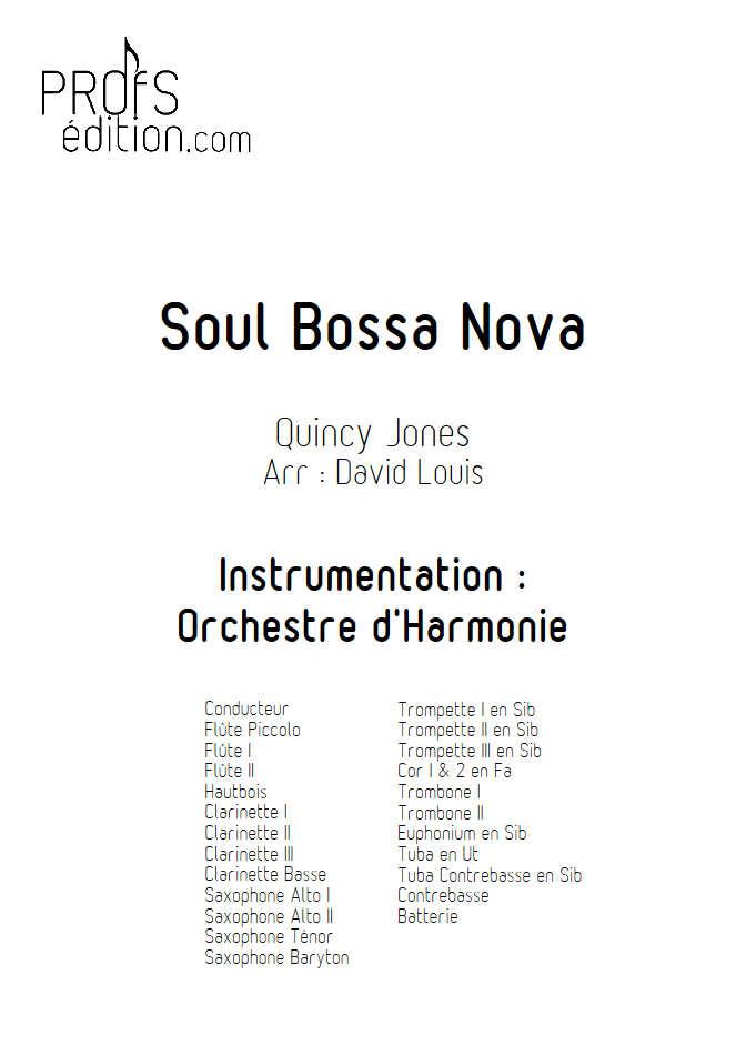 Soul Bossa Nova - Orchestre d'Harmonie - JONES Q. - page de garde