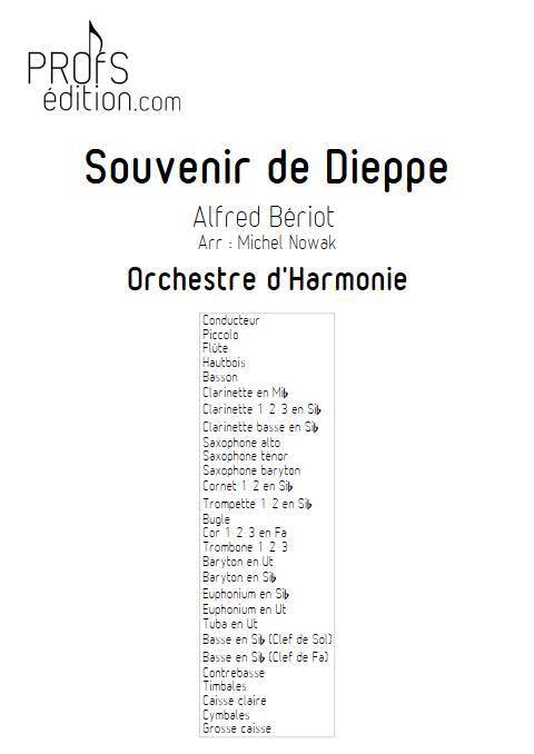 Souvenir de Dieppe - Orchestre d'Harmonie - BERIOT A. - page de garde