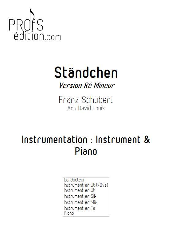 Ständchen - Piano/Instrument - SCHUBERT F. - page de garde