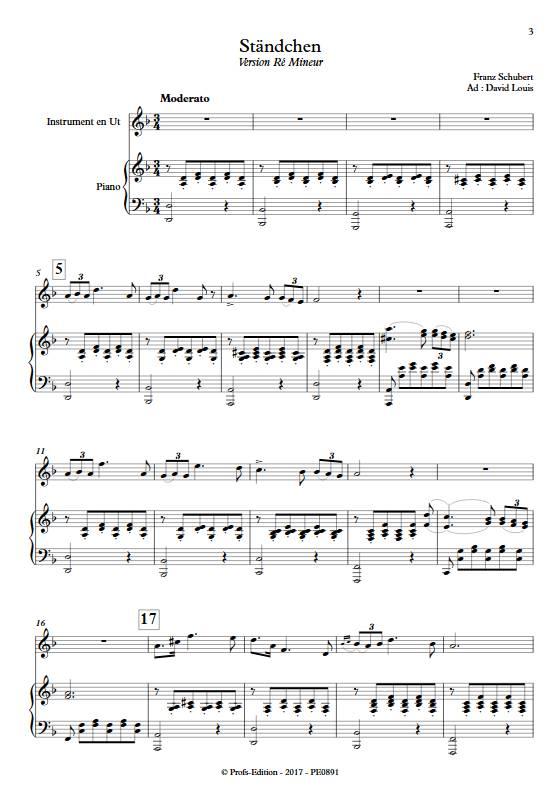 Ständchen - Piano/Instrument - SCHUBERT F. - Partition