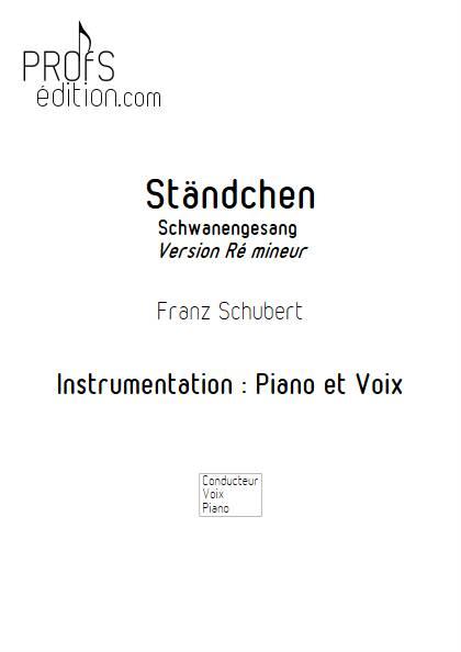 Ständchen - Piano Voix - SCHUBERT F. - page de garde