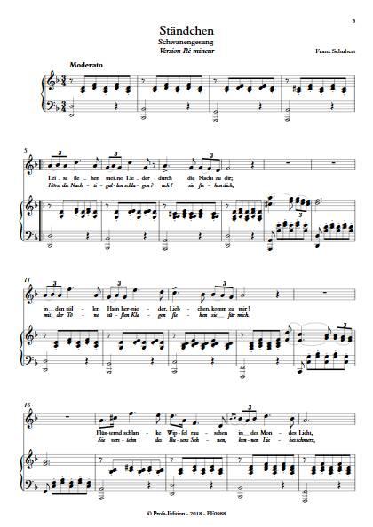 Ständchen - Piano Voix - SCHUBERT F. - Partition