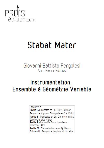 Stabat Mater - Ensemble à Géométrie Variable - PERGOLESI G. B. - page de garde