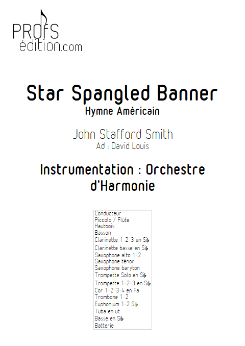 Star Spangled Banner - Orchestre d'Harmonie - SMITH J. S. - page de garde