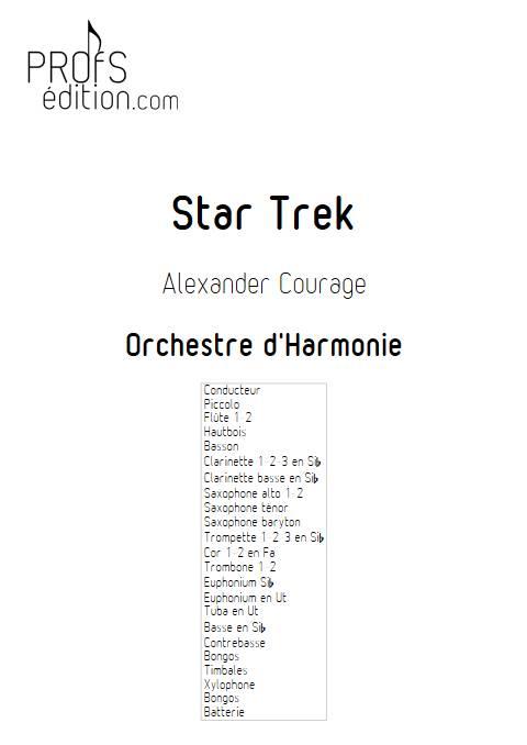 Star Trek - Orchestre d'Harmonie - COURAGE A. - page de garde