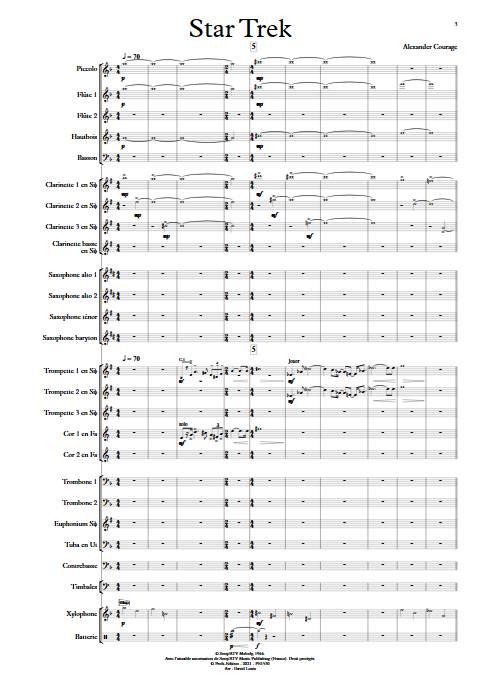 Star Trek - Orchestre d'Harmonie - COURAGE A. - app.scorescoreTitle