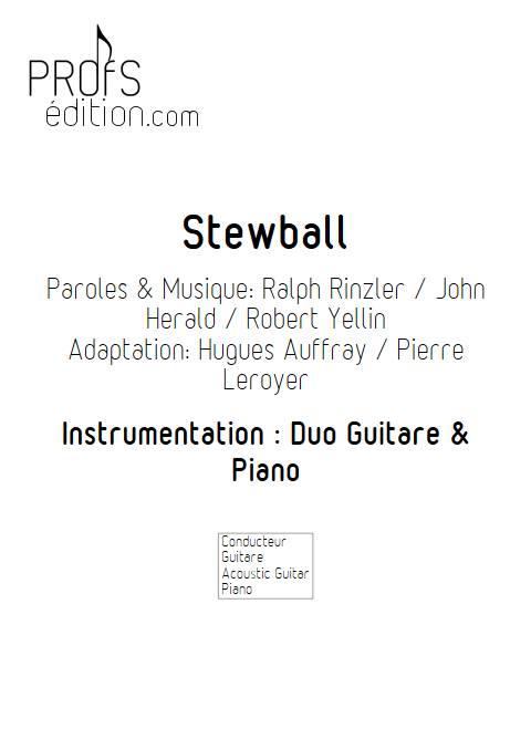 Stewball - Duo Guitare et Piano - AUFRAY H. BUREL Denis - page de garde