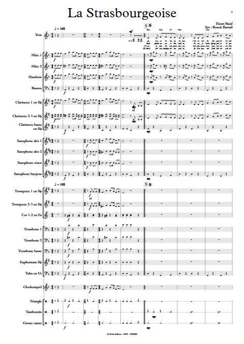 La Strasbourgeoise - Orchestre d'Harmonie - NATIF H. - app.scorescoreTitle