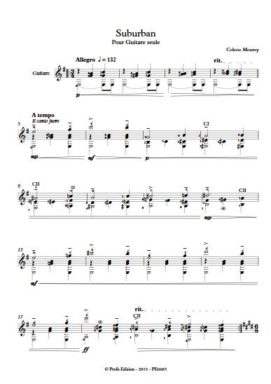 Suburban - Guitare seule - MOUREY C. - Partition