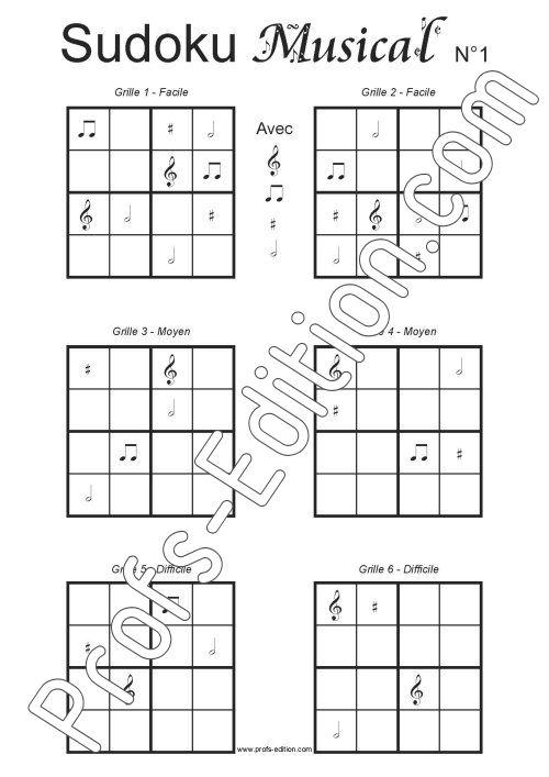 24 grilles de Sudoku Musical - Formation Musicale - LOUIS D. - page de garde