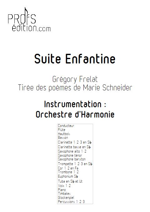 Suite Enfantine - Orchestre d'Harmonie & Chœur - FRELAT G. & SCHNEIDER M. - page de garde