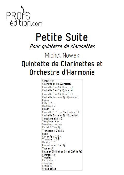Suite pour Quintette de Clarinettes et Harmonie - 3e Mouvement - Quintette de Clarinettes & Harmonie - NOWAK M. - page de garde