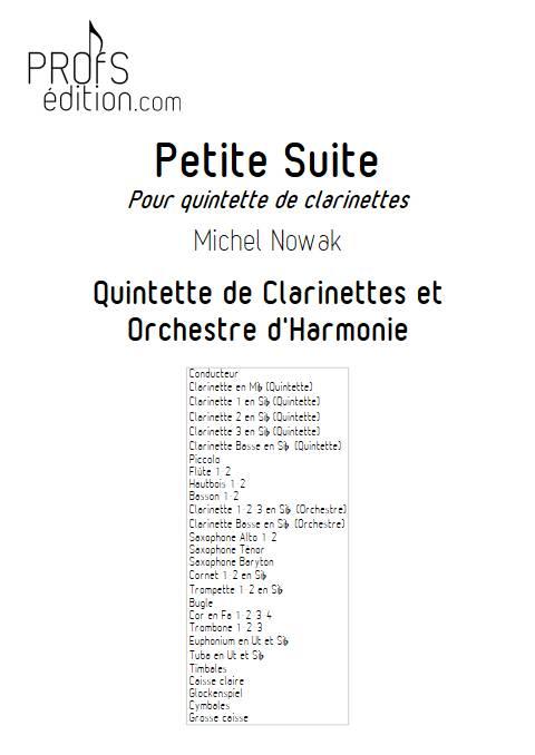 Suite pour Quintette de Clarinettes et Harmonie - 4e Mouvement - Quintette de Clarinettes & Harmonie - NOWAK M. - page de garde