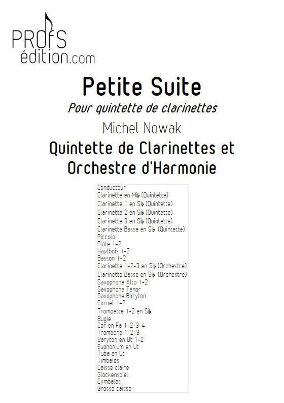 Suite pour Quintette de Clarinettes et Harmonie - 5e Mouvement - Quintette de Clarinettes & Harmonie - NOWAK M. - page de garde