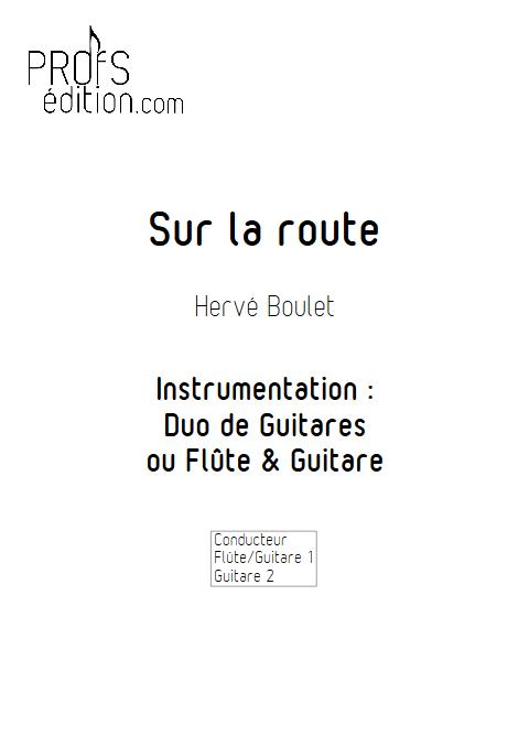Sur la route - Duo de Guitares ou Flûte & Guitare - BOULET H. - page de garde