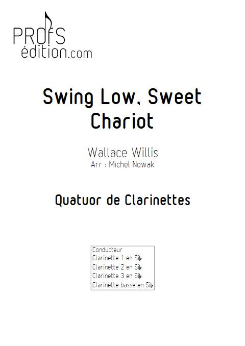 Swing Low Sweet Chariot - Quatuor de Clarinettes - WILLIS W. - page de garde